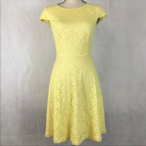 Connected Apparel Lace Fit & Flare Dress NWT